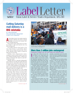Label Letter--March-April 2013