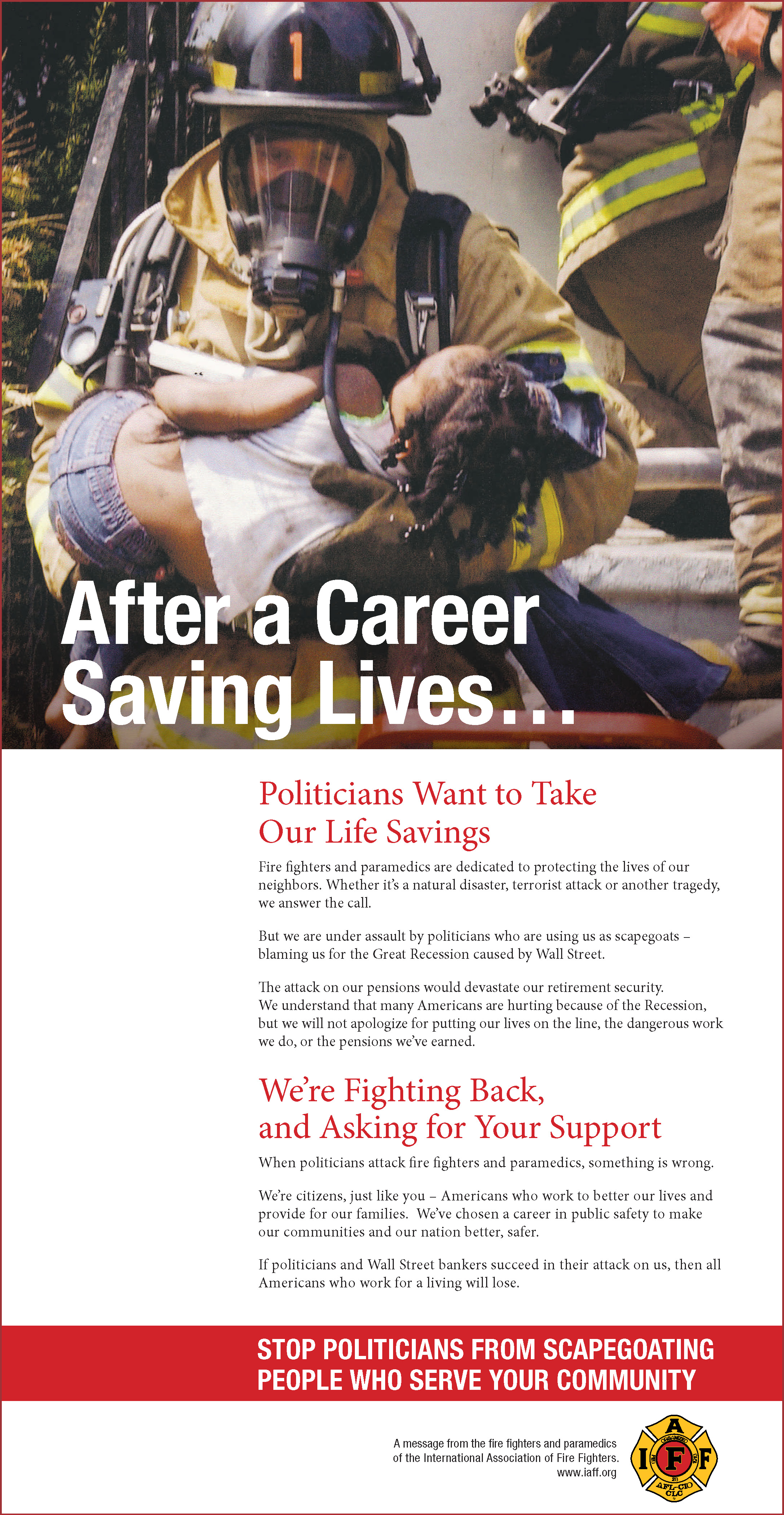 After a Career of Saving Lives…