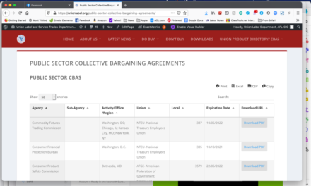 Union Contract Database Live on Union Label Website