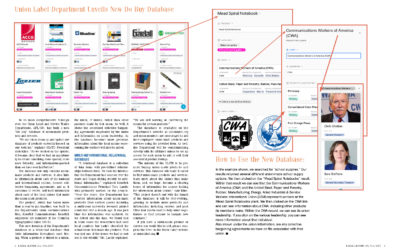Union Label Department Unveils New Do Buy Database